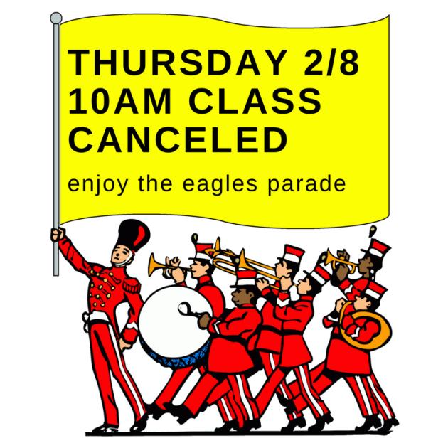 thursday 28 10am classcanceled